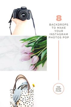 8 backdrop ideas to make your Instagram photos stand out for less than $25! My favorite is #4 or #6! Instagram photo ideas | Best Instagram Photos | How to take better Instagram Photos