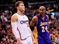 Blake Griffin and Kobe Bryant