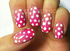 Pink Ombre Polka Dots