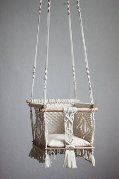 Polka_knot macrame baby swing Annabel small by polkaknot on Etsy