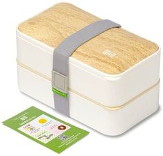 BentoHeaven Leakproof Bento Box with Fun Lunch Notes, Cutlery, Chopsticks - Bamboo White: Kitchen & Dining Adult Lunch Box, Lunch Box Set, Bento Box Lunch, Bento Lunchbox, Box Lunches, Lunch Box Containers, Food Storage Containers, Tupperware, Japanese Bento Box