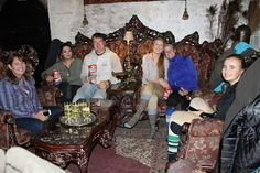 Our group enjoying some refreshments st the Haunted Castle Trek, Castle, Group, Palace