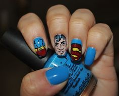 SUPERMAN FAKE AND REAL NAILS  BOYS WILL BE FALLING FOR YOU WELL AT LEAST MY BROTHERS WILL