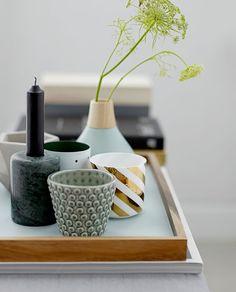 Wunderschöne Kombi aus Vase, Teelichthalter und Kerzenhalter aus der AW Collection 2015 von Bloomingville