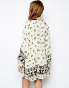 Kiss The Sky safari elephant kimono by ASOS