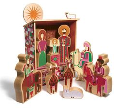 girard-inspired nativity set.  More at home than the playmobil one?