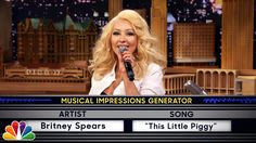 Wheel of Musical Impressions with Christina Aguilera. Haaaaa, she nails it!