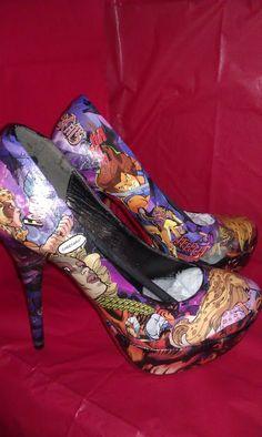 ThunderCats Custom Comic Heels by TheRealHellOnHeels on Etsy, $135.00