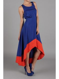 Yetts Two Tone Asymmetrical Dress / Rs.2380 Love the cut!!