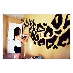 cool stuff! / Leopard Print Wall found on Polyvore