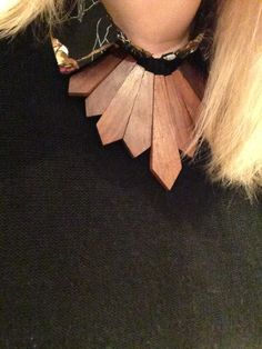 #wooden #statementnecklace Wooden, Statement Necklace