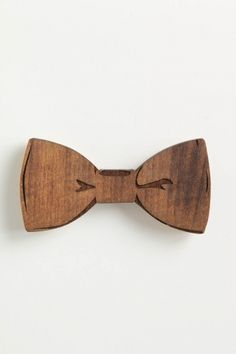 Wooden bow tie but only if the meetings formal : )