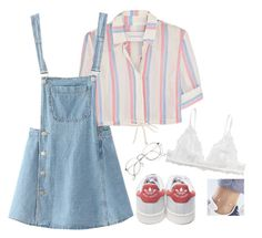 """""""Untitled #3"""" by bringmxthxhorizon on Polyvore featuring Solid & Striped, Monki, adidas and WithChic"""