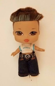 Bratz Boyz Boy Kidz Kid Doll Blue brown Hair brow Eyes Original Clothes Rare #MGA #DollswithClothingAccessories