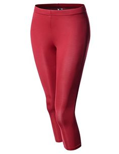 NEARKIN NKNKW7L Beloved Womens Capri Crop Downy Yoga Tights Urbane Leggings RED US XLTag size 2XL >>> Details can be found by clicking on the image.  This link participates in Amazon Service LLC Associates Program, a program designed to let participant earn advertising fees by advertising and linking to Amazon.com.