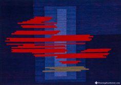Moving On handwoven tapestry Skaidrite McKeag weaving southwest