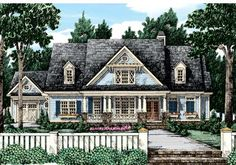 Blue Manhasset Craftsman Home Plans and House Plans by Frank Betz Associates