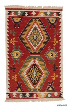 K0006446 New Turkish Kilim | Kilim Rugs, Overdyed Vintage Rugs, Hand ...