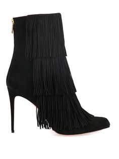 Taos Fringed Suede Ankle Boots | Paul Andrew