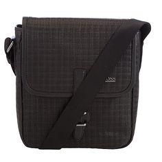 Buy BOSS Sabbea Leather Messenger Bag, Black Online at johnlewis.com