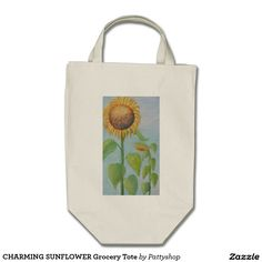 CHARMING SUNFLOWER  Grocery Tote Bag