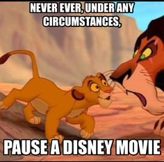 How freakin' interesting, Uncle Scar. Please, tell me more. So fascinating.