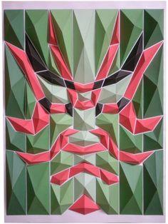 緻密に彩られた折り紙モザイクなアート「Origami Mosaics」の紹介。