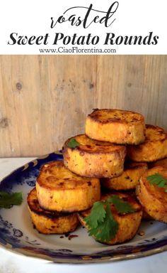Healthy Roasted Sweet Potato Rounds Recipe, Paleo and Gluten Free   CiaoFlorentina.com @CiaoFlorentina