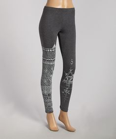 Look at this Charcoal Tribal Inka Leggings on #zulily today!