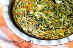 This Mommy Cooks: Quinoa, Spinach, Cheese, and Egg Casserole {Vegetarian}