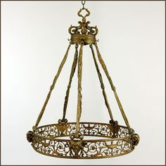 French Antique Bronze Chandelier, c late 1800's, Reborn Antiques and Reproductions