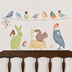 Rosenberry Rooms is offering a 10% discount on your purchase of $350 or more.  Share the news and take advantage of the savings! Forest Critters Earthy Fabric Wall Decals #rosenberryrooms