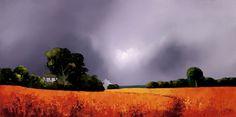 Umber Landscape [Barry Hilton-A047] - $500.00 painting by oilpaintingsartmaker.com
