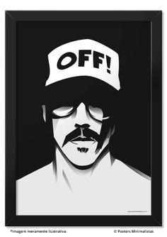 Kiedis - Red Hot Chili Peppers - Música | Posters Minimalistas Appreciated by Edson Ecks