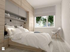 Projekt domu pod Warszawą - Mała sypialnia małżeńska, styl minimalistyczny - zdjęcie od ZEN Interiors