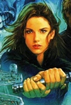 Jaina Solo Fel: Was a Human female Jedi Master of the New Jedi Order, member of the Jedi High Council, the wife of Jagged Fel, the twin sister of Jacen Solo & the older sister of Anakin Solo. Born to Han & Leia Organa Solo, she inherited her father's mechanical aptitude & her mother's Force sensitivity, resulting in her eventual training at the Jedi Praxeum. She had many adventures, including helping Zekk abandon the dark side of the Force & join the ranks of the Jedi.