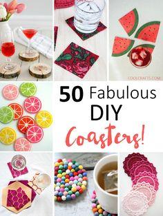 50 crafty DIY cup coaster ideas - so many unique options!