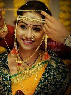 Saree Wedding, Wedding Bride, Wedding Shoot, Indian Wedding Photography, Wedding Photography Poses, Big Fat Indian Wedding, Indian Bridal, Marathi Bride, Marathi Wedding