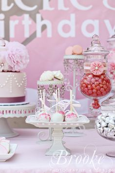 "Vintage Ballerina / Birthday ""Danielle's Vintage Ballerina 1st Birthday"" 
