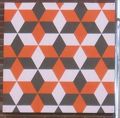 Tumbling Blocks - Bagel Exchange - Kingsport, TN - Painted Barn Quilts on Waymarking.com