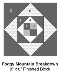 Foggy Mountain Breakdown, part of Quilter's World's FREE Quilt Block of the Month. Get the download here: http://www.quiltersworld.com/Quilt_Block/?source=fcebkqw