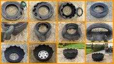 Repurposed Tire Projects – The Owner-Builder Network Tire Garden, Diy Herb Garden, Garden Art, Garden Pond, Tire Pond, Pallets Garden, Garden Design, Tire Planters, Garden Planters