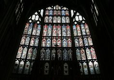 stained glass window in England (York Minster