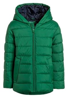 Benetton - Talvitakki - green Benetton, Jackets, Kids, Outdoors, Green, Fashion, Down Jackets, Young Children, Moda