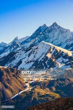 Stock Photo : View of Swiss Alp mountain from Gornergrat Station, Zermatt, Switzerland