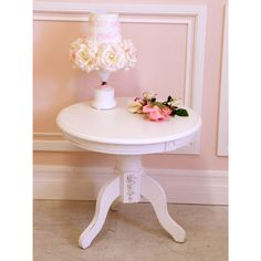 Bella Collection Round End Table $150.00 #shabbychic #homedecor