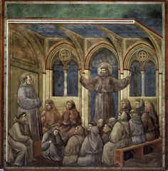The Apparition at the Chapter House at Arles - Giotto