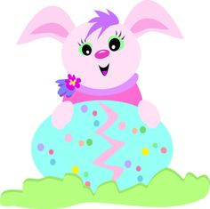 iCLIPART - Royalty Free Clip Art Image of a Bunny with an Easter Egg