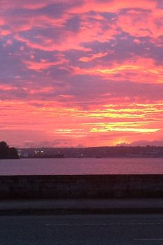 The Great island, Cobh, Ireland, this evening's sunset.