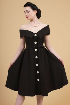 The Fifties Drama Queen Dress By Bettie Page - Dresses - Clothing